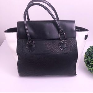 Mossimo Black and white Satchel